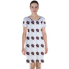 Insect Pattern Short Sleeve Nightdress