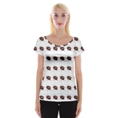 Insect Pattern Women s Cap Sleeve Top