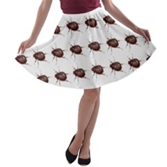 Insect Pattern A-line Skater Skirt