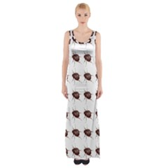 Insect Pattern Maxi Thigh Split Dress