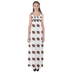 Insect Pattern Empire Waist Maxi Dress