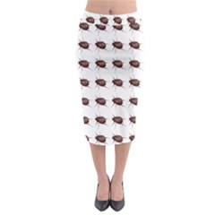 Insect Pattern Midi Pencil Skirt