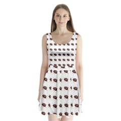 Insect Pattern Split Back Mini Dress