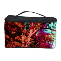 Abstract Fall Trees Saturated With Orange Pink And Turquoise Cosmetic Storage Case