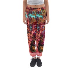 Abstract Fall Trees Saturated With Orange Pink And Turquoise Women s Jogger Sweatpants