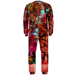 Abstract Fall Trees Saturated With Orange Pink And Turquoise Onepiece Jumpsuit (men)
