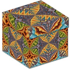 Kaleidoscopic Pattern Colorful Kaleidoscopic Pattern With Fabric Texture Storage Stool 12