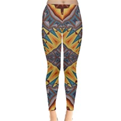 Kaleidoscopic Pattern Colorful Kaleidoscopic Pattern With Fabric Texture Leggings