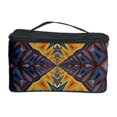 Kaleidoscopic Pattern Colorful Kaleidoscopic Pattern With Fabric Texture Cosmetic Storage Case