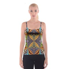 Kaleidoscopic Pattern Colorful Kaleidoscopic Pattern With Fabric Texture Spaghetti Strap Top