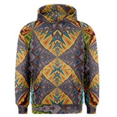 Kaleidoscopic Pattern Colorful Kaleidoscopic Pattern With Fabric Texture Men s Pullover Hoodie