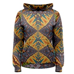 Kaleidoscopic Pattern Colorful Kaleidoscopic Pattern With Fabric Texture Women s Pullover Hoodie