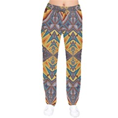 Kaleidoscopic Pattern Colorful Kaleidoscopic Pattern With Fabric Texture Drawstring Pants
