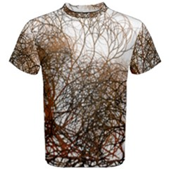 Digitally Painted Colourful Winter Branches Illustration Men s Cotton Tee