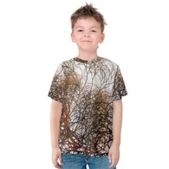 Digitally Painted Colourful Winter Branches Illustration Kids  Cotton Tee