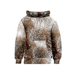 Digitally Painted Colourful Winter Branches Illustration Kids  Pullover Hoodie