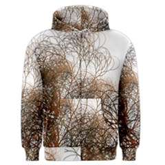 Digitally Painted Colourful Winter Branches Illustration Men s Zipper Hoodie