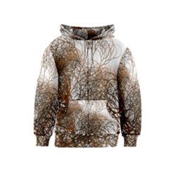 Digitally Painted Colourful Winter Branches Illustration Kids  Zipper Hoodie