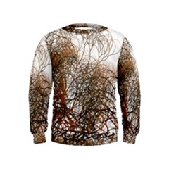 Digitally Painted Colourful Winter Branches Illustration Kids  Sweatshirt