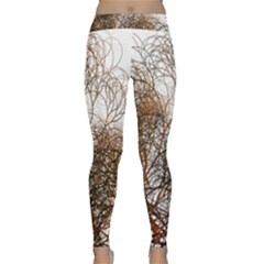 Digitally Painted Colourful Winter Branches Illustration Classic Yoga Leggings
