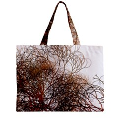 Digitally Painted Colourful Winter Branches Illustration Zipper Mini Tote Bag
