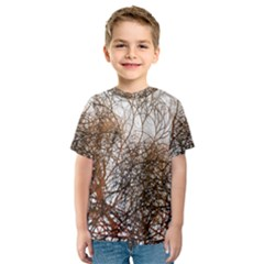 Digitally Painted Colourful Winter Branches Illustration Kids  Sport Mesh Tee