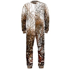 Digitally Painted Colourful Winter Branches Illustration Onepiece Jumpsuit (men)