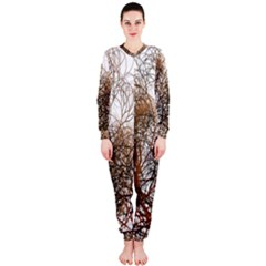Digitally Painted Colourful Winter Branches Illustration OnePiece Jumpsuit (Ladies)