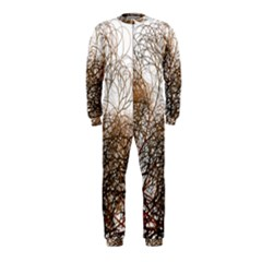 Digitally Painted Colourful Winter Branches Illustration OnePiece Jumpsuit (Kids)