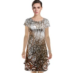 Digitally Painted Colourful Winter Branches Illustration Cap Sleeve Nightdress
