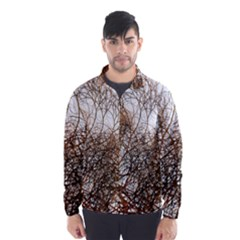 Digitally Painted Colourful Winter Branches Illustration Wind Breaker (men)