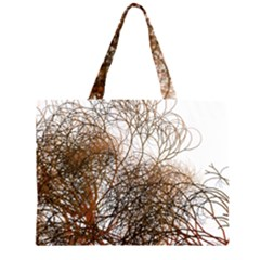 Digitally Painted Colourful Winter Branches Illustration Large Tote Bag