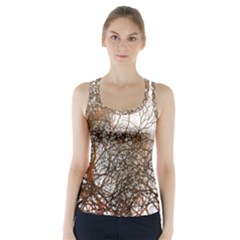 Digitally Painted Colourful Winter Branches Illustration Racer Back Sports Top