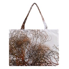 Digitally Painted Colourful Winter Branches Illustration Medium Tote Bag