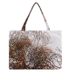 Digitally Painted Colourful Winter Branches Illustration Medium Zipper Tote Bag