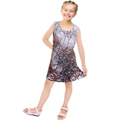 Digitally Painted Colourful Winter Branches Illustration Kids  Tunic Dress