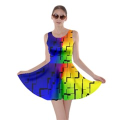 A Creative Colorful Background Skater Dress