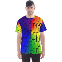 A Creative Colorful Background Men s Sport Mesh Tee