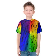 A Creative Colorful Background Kids  Cotton Tee
