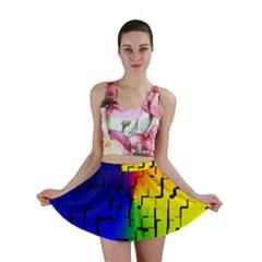 A Creative Colorful Background Mini Skirt