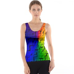 A Creative Colorful Background Tank Top