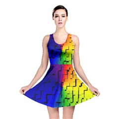 A Creative Colorful Background Reversible Skater Dress