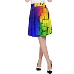 A Creative Colorful Background A Line Skirt