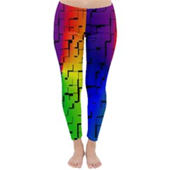 A Creative Colorful Background Classic Winter Leggings