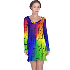 A Creative Colorful Background Long Sleeve Nightdress