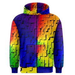 A Creative Colorful Background Men s Zipper Hoodie