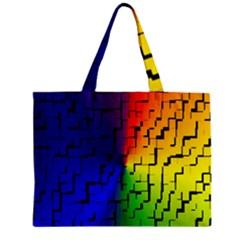 A Creative Colorful Background Zipper Mini Tote Bag