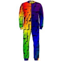 A Creative Colorful Background Onepiece Jumpsuit (men)