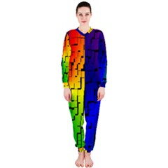 A Creative Colorful Background OnePiece Jumpsuit (Ladies)
