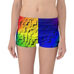 A Creative Colorful Background Reversible Bikini Bottoms